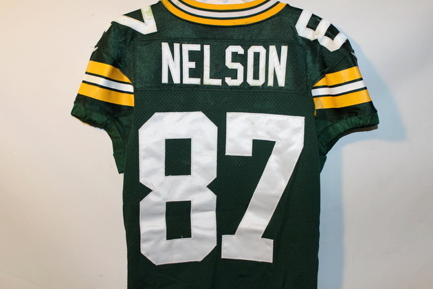 low priced 5e647 37c01 NFL Auction | JORDY NELSON GAME USED PACKERS JERSEY FROM ...