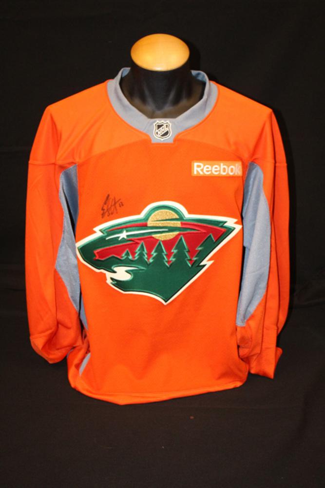#12 Eric Staal Autographed Blaze Orange Wild Jersey