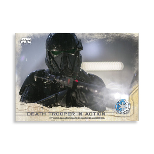 Death Trooper in Action 2016 Star Wars Rogue One Series One Base Poster - # to 99