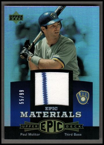 Photo of 2006 Upper Deck Epic Materials Blue #PM2 Paul Molitor Jsy/99