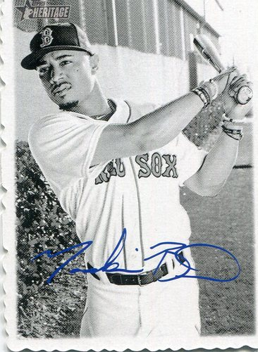 Photo of 2018 Topps Heritage '69 Topps Deckle Edge #14 Mookie Betts   Facsimile autograph