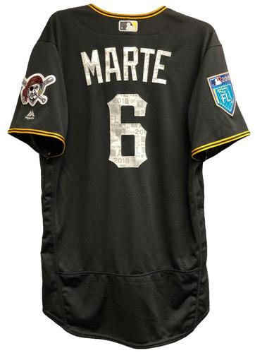 Photo of Starling Marte Game-Used 2018 Spring Training Jersey