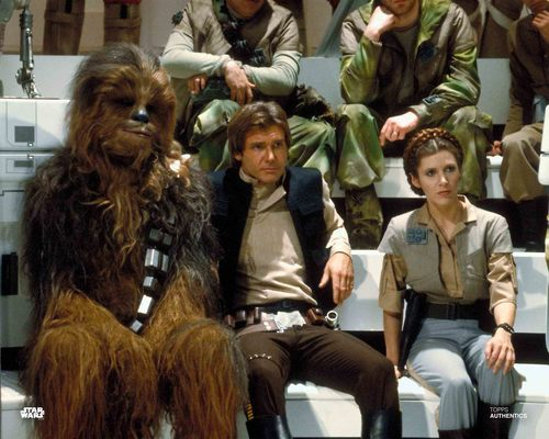 Han Solo, Princess Leia Organa and Chewbacca