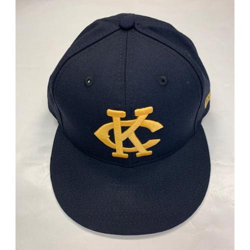 Photo of Game-Used Kansas City Monarchs Cap 8-10-2019: Melbrys Viloria