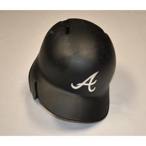 """Photo of Matt """"SWEET SWINGIN"""" Joyce Atlanta Braves Game-Used 2019 Players' Weekend Helmet"""