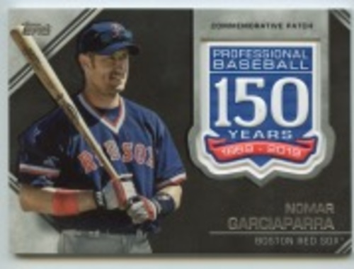 Photo of 2019 Topps Update 150th Anniversary Manufactured Patches #AMPNG Nomar Garciaparra