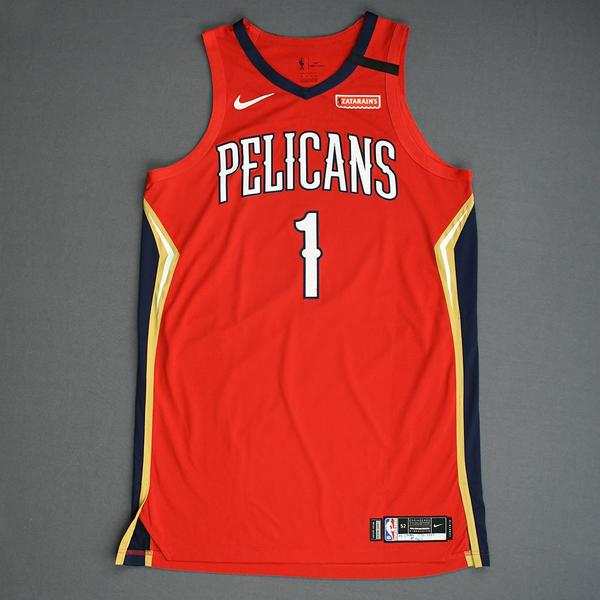 Image of Zion Williamson - New Orleans Pelicans - Game-Worn 1st Half Statement Edition Rookie Debut Jersey - 1st Overall 2019 NBA Draft Pick - Scored 22 Poi...
