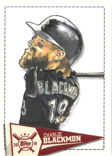 Photo of 2019 Topps Big League Star Caricature Reproductions #SCRCB Charlie Blackmon