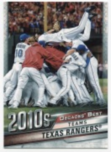 Photo of 2020 Topps Decades' Best #DB89 Texas Rangers