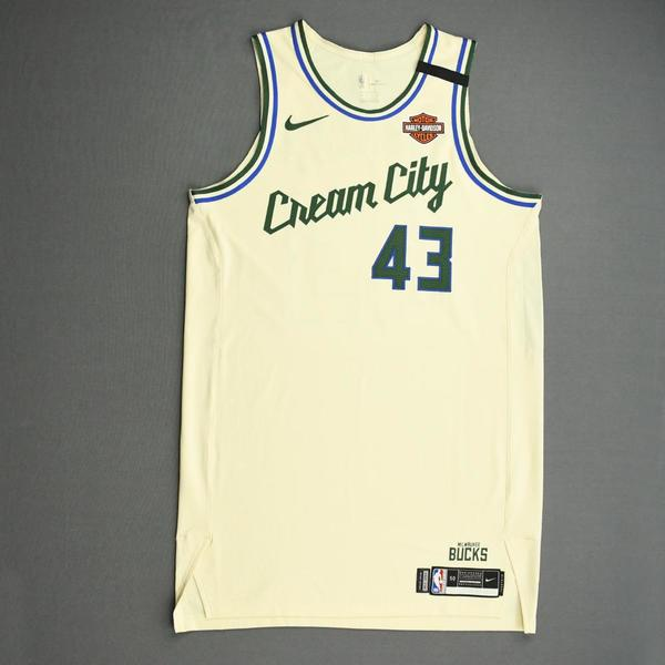 Image of Thanasis Antetokounmpo - Milwaukee Bucks - Game-Worn City Edition Jersey - Dressed, Did Not Play (DNP) - 2019-20 NBA Season Restart with Social Jus...