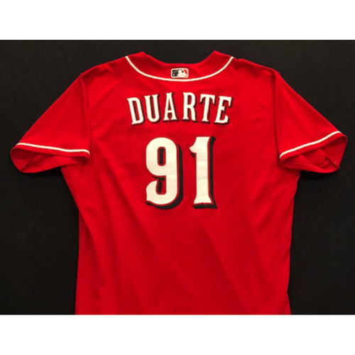 Photo of Jose Duarte -- 2020 Spring Training Jersey -- Team-Issued -- Size 48