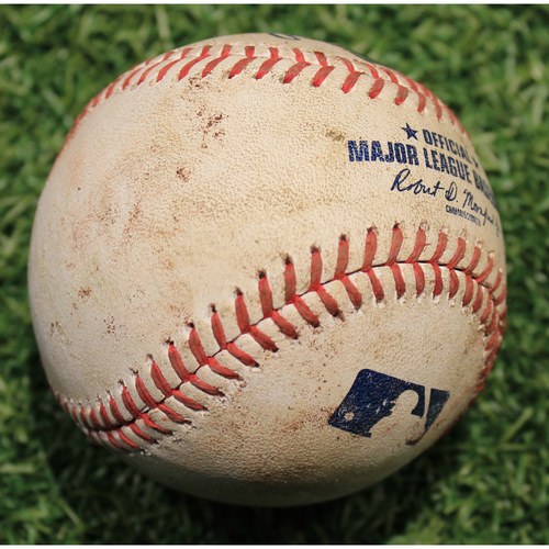 Photo of Game-Used Baseball: Brad Miller 117th Career Double (STL @ KC 9/23/20)