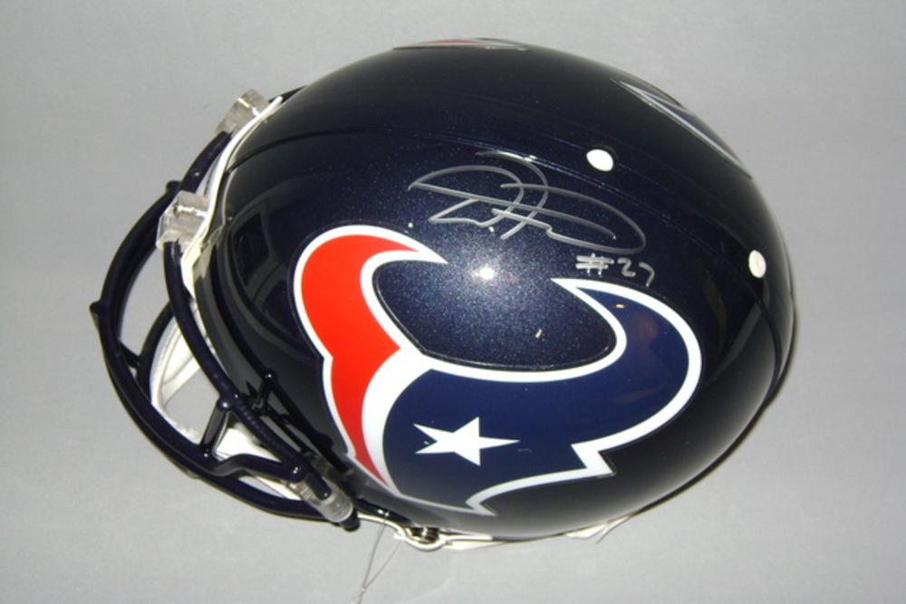 NFL - TEXANS D'ONTA FOREMAN SIGNED TEXANS PROLINE HELMET