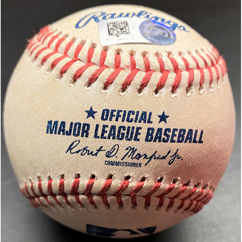 Photo of Game-Used Baseball: Jeimer Candelario Detroit Tigers Triple (MLB AUTHENTICATED)
