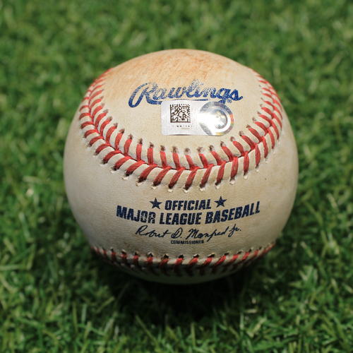 Photo of Game-Used Baseball: Whit Merrifield 723rd Career Hit (9/26/20 DET @ KC)