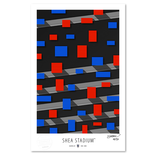 Photo of Shea Stadium - Collector's Edition Minimalist Art Print by S. Preston Limited Edition /350  - New York Mets