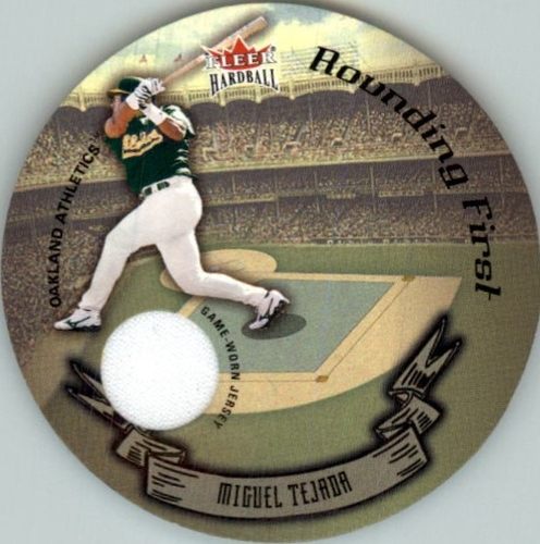 Photo of 2003 Fleer Hardball Round Trippers Rounding First #15 Miguel Tejada Jsy/524