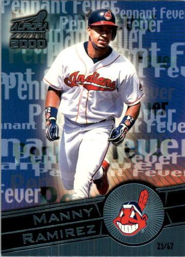 Photo of 2000 Aurora Pennant Fever Platinum Blue #8 Manny Ramirez