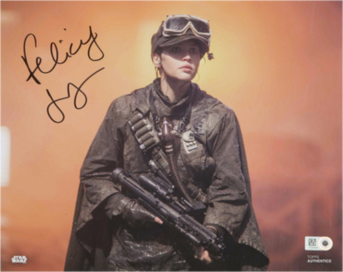 Felicity Jones as Jyn Erso 16x20 Autographed in Black Ink Photo