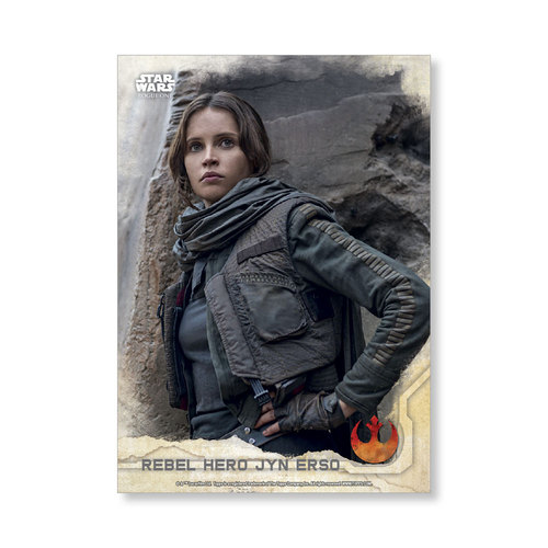 Rebel Hero Jyn Erso 2016 Star Wars Rogue One Series One Base Poster - # to 99
