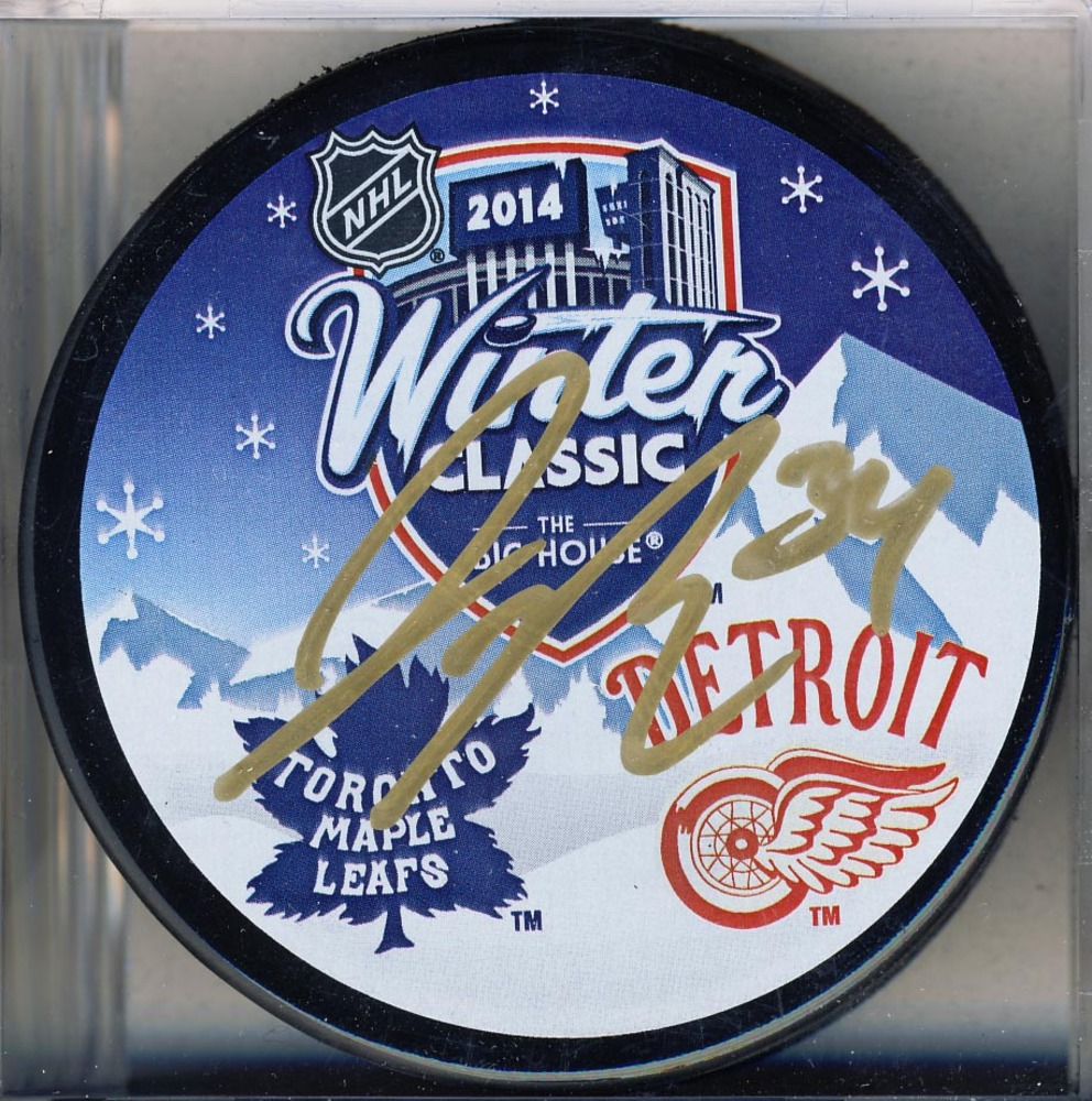 James Reimer Toronto Maple Leafs Autographed 2014 Winter Classic Puck *Florida Panthers*
