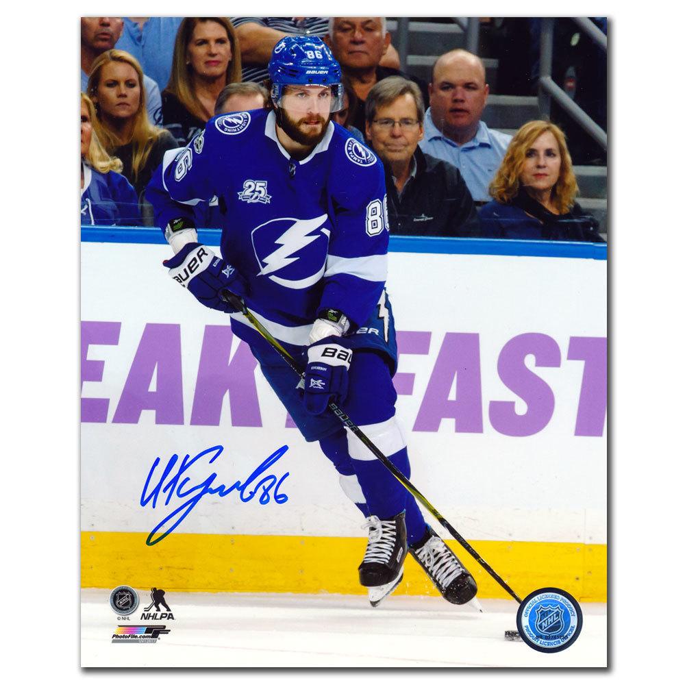 Nikita Kucherov Tampa Bay Lightning RUSH Autographed 8x10