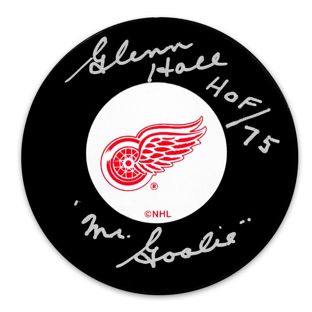 Glenn Hall Detroit Red Wings HOF Mr. Goalie Autographed Puck