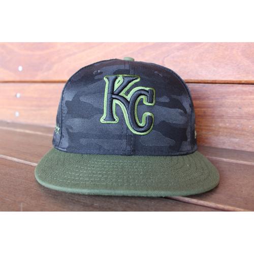 Photo of Game-Used Memorial Day Cap: Brad Keller (Size 7 1/8 - MIN @ KC - 5/28/18)