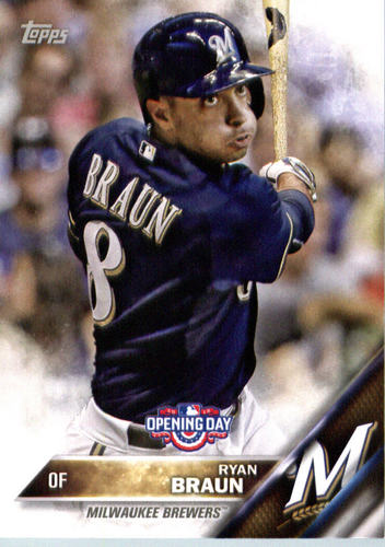Photo of 2016 Topps Opening Day #OD26 Ryan Braun