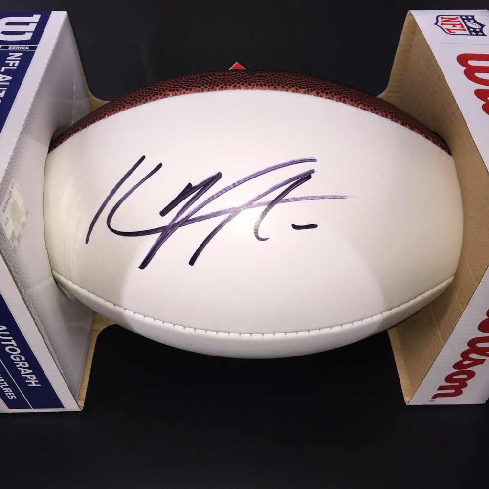 NFL - PANTHERS KYLE ALLEN SIGNED PANEL BALL