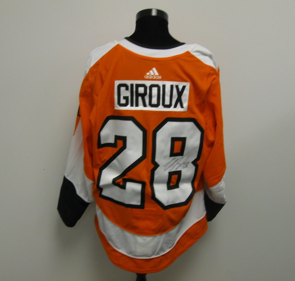 super popular 49bd3 cc766 Claude Giroux Autographed Event Worn Jersey from 2018 Player ...