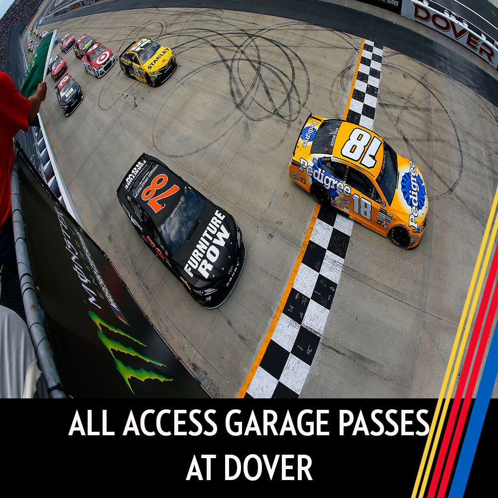 All Access Garage Passes at Dover for the entire race weekend!