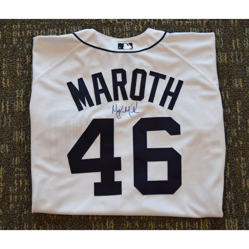 Photo of Mike Maroth Autographed Detroit Tigers #46 Home Jersey  (Not MLB Authenticated)