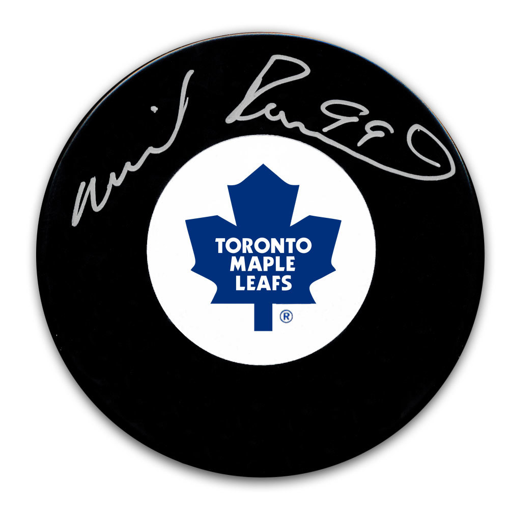 Wilf Paiement Toronto Maple Leafs Autographed Puck
