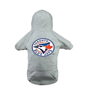 Toronto Blue Jays Grey Pet Hoodie by Sports Vault