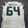 NFL - Seahawks J. R. Sweezy London Games Game Used Jersey Size 46 (10/14/18)
