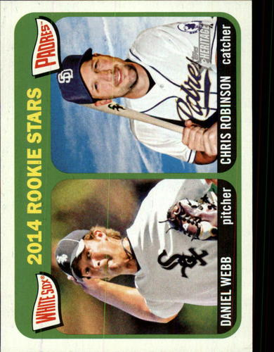 Photo of 2014 Topps Heritage #398 Daniel Webb RC/Chris Robinson (RC)