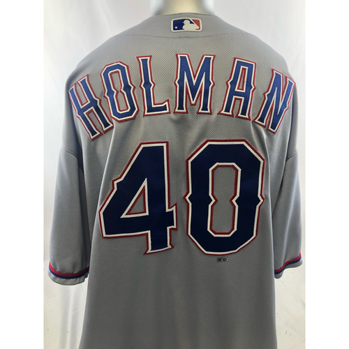 Grey Game-Used Jersey - Brad Holman