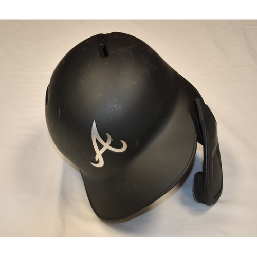 "Photo of Adeiny ""LA PANTERA UUFF"" Hechavarria Atlanta Braves Game-Used 2019 Players' Weekend Helmet"