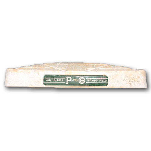 Photo of Game-Used 2nd Base -- Used in Innings 5 through 9 -- Pirates vs. Cubs -- 7/13/19