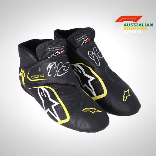 Photo of Daniel Ricciardo 2019 Used Signed Race Boots