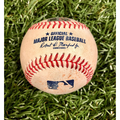 Photo of Game Used Baseball: Bryce Harper RBI single off Aaron Slegers - September 26, 2020 v PHI