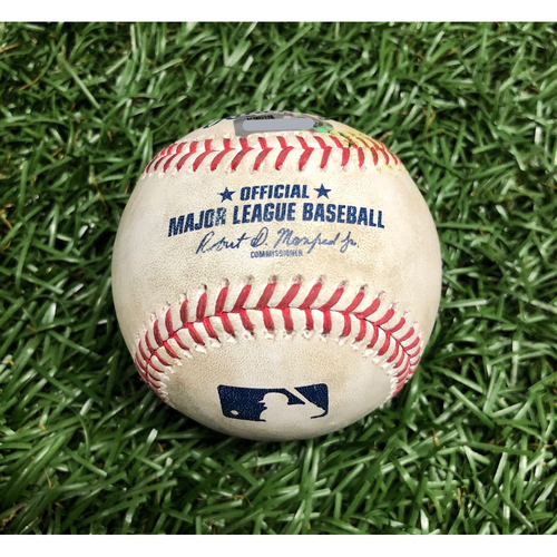 Photo of Spring Training Game Used Baseball: Hunter Strickland strikes out Bobby Dalbec - March 9, 2021 v BOS