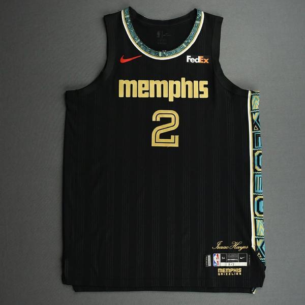 Image of Xavier Tillman Sr. - Memphis Grizzlies - Game-Worn City Edition Jersey - 2020-21 NBA Season
