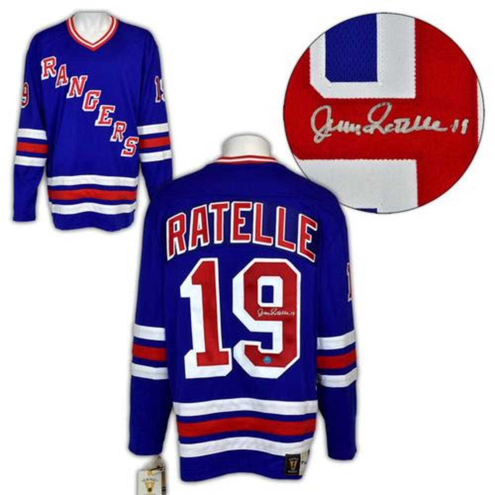 Jean Ratelle New York Rangers Signed Vintage Fanatics Jersey