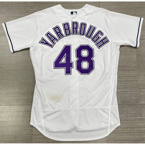 Photo of Game Used Devil Rays Jersey: Ryan Yarbrough - May 29, 2021