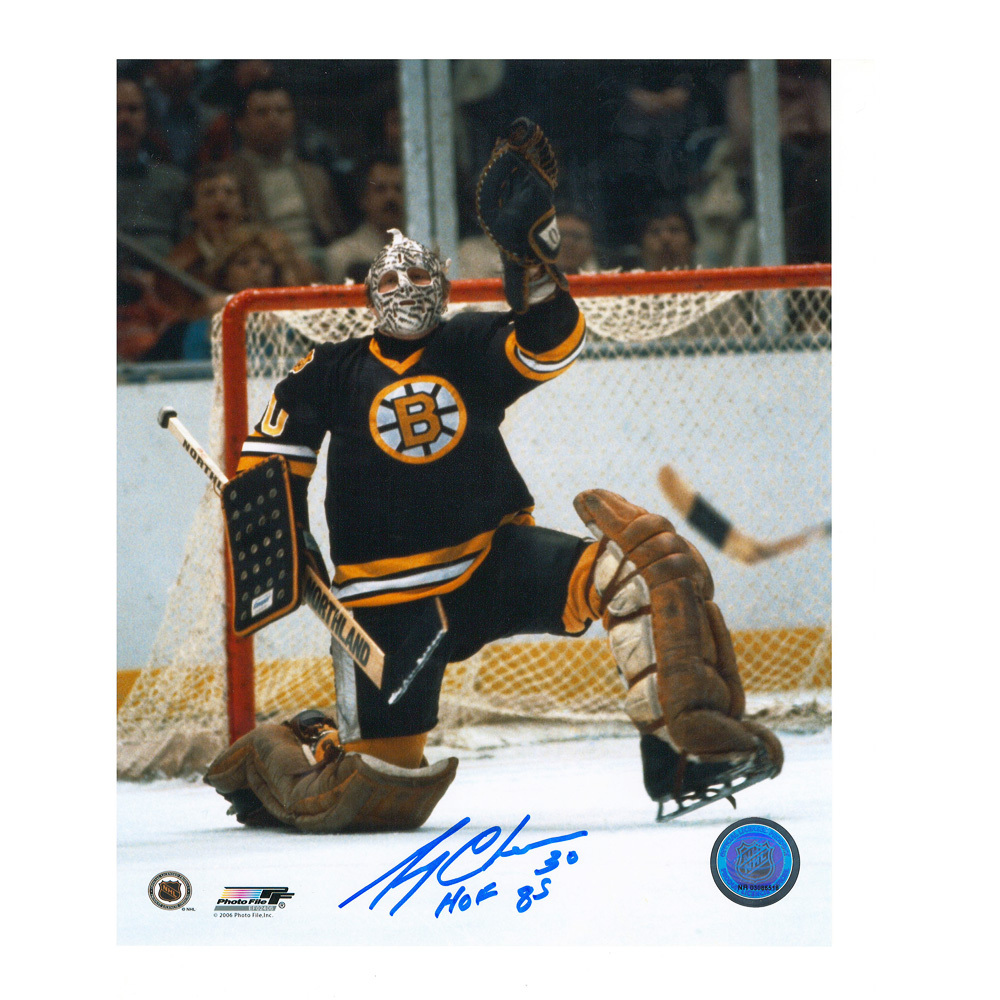 GERRY CHEEVERS Signed Boston Bruins 8 X 10 Photo - 70450