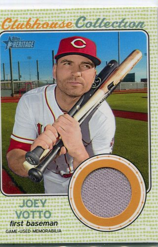 Photo of 2017 Topps Heritage Clubhouse Collection Relics Joey Votto