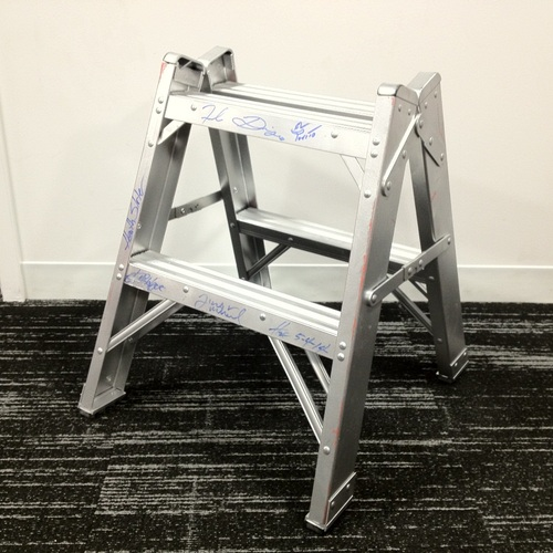 Mini Ladder signed by 3MB + Hornswoggle & Los Matadores + Torito