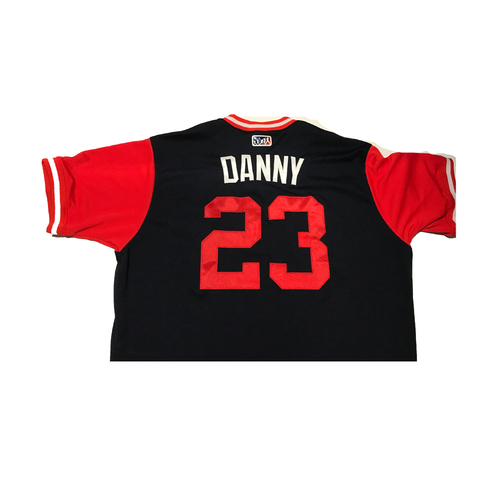 "Photo of Danny ""Danny"" Santana Atlanta Braves 2017 Team-Issued Players Weekend Jersey"